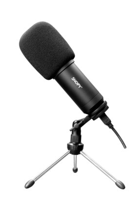 Snopy Sn-04p Çok Amaçlı Masaüstü Profesyonel Usb Yayın Mikrofonu Siyah