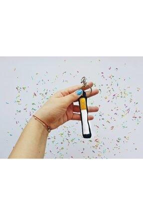 celmonster Simli Sigara Anahtarlık Ve Çanta Süsü Beyaz Çanta Aksesuarı