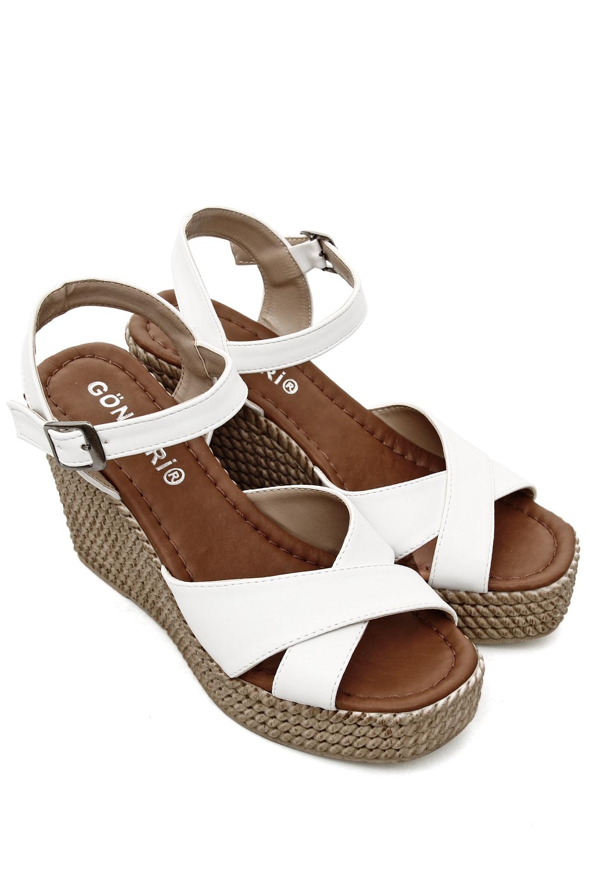 GÖNDERİ(R) Beyaz Kadın Sandalet 40533 1