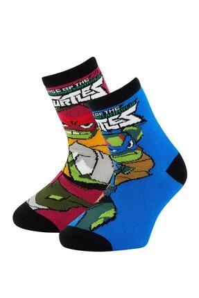 DeFacto Erkek Çocuk Ninja Turtles Lisanslı 2'li Soket Çorap