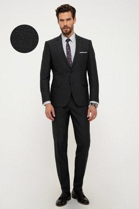 Pierre Cardin Erkek Siyah Ekstra Slim Fit Takım Elbise