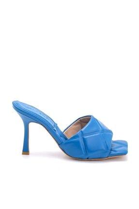 Sofia Baldi Kadın Mavi Camala Topuklu Terlik