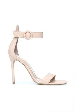 Dıvarese Kadın Krem Bantlı Deri Sandalet