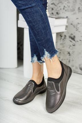 MUGGO Kadın Platin Casual Ayakkabı Mganber01