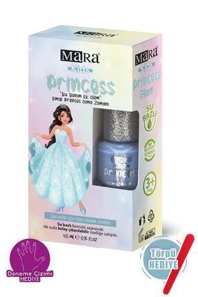 Mara Princess Yıkanabilir Su Bazlı Çocuk Ojesi - Mavi + Törpü
