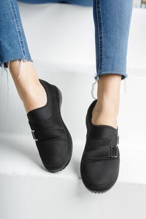 MUGGO Kadın Siyah Casual Ayakkabı Mganber02