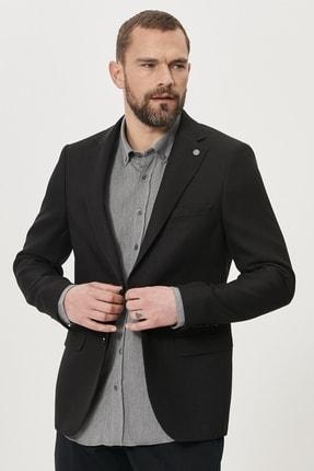 ALTINYILDIZ CLASSICS Erkek Siyah Slim Fit Dar Kesim Mono Yaka Blazer Ceket