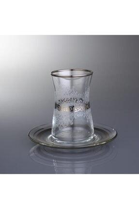 Paşabahçe Heybeli Estel Gümüş Çay Takımı