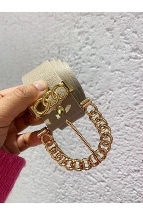 BellaVino Kadın Bej Gold Tokalı Kemer R50001t