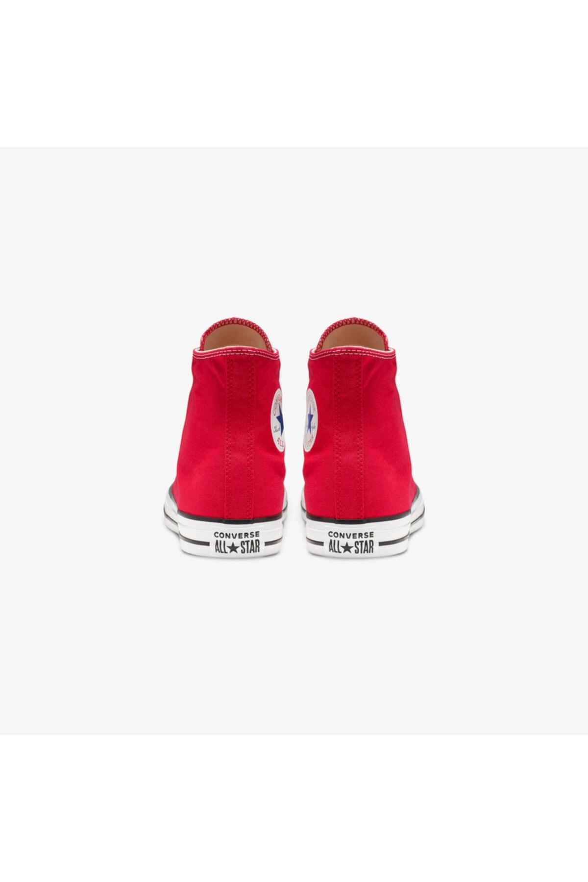 converse Unisex Kırmızı Chuck Taylor All Star Hi Sneaker Ayakkabı 2