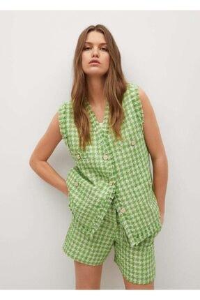 MANGO Woman Kadın Yeşil Yelek