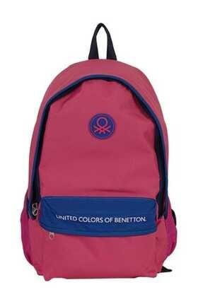 Benetton United Colors Of 96065 Okul Çantası Pembe - Lacivert