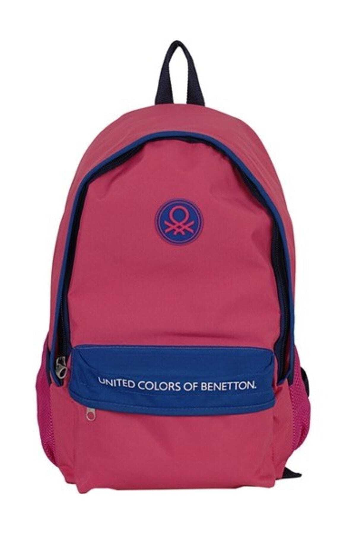 Benetton United Colors Of 96065 Okul Çantası Pembe - Lacivert 1