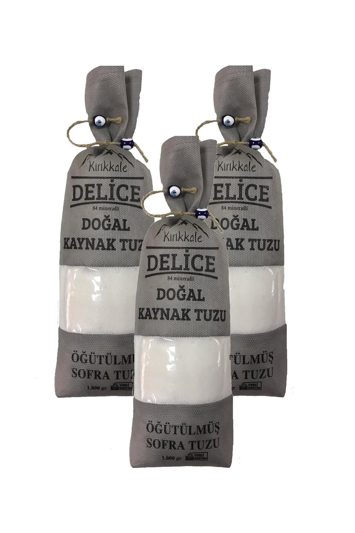 DELİCE Kırıkkale Doğal Kaynak Tuzu Öğütülmüş Sofra Tuzu 1000gr X3 1