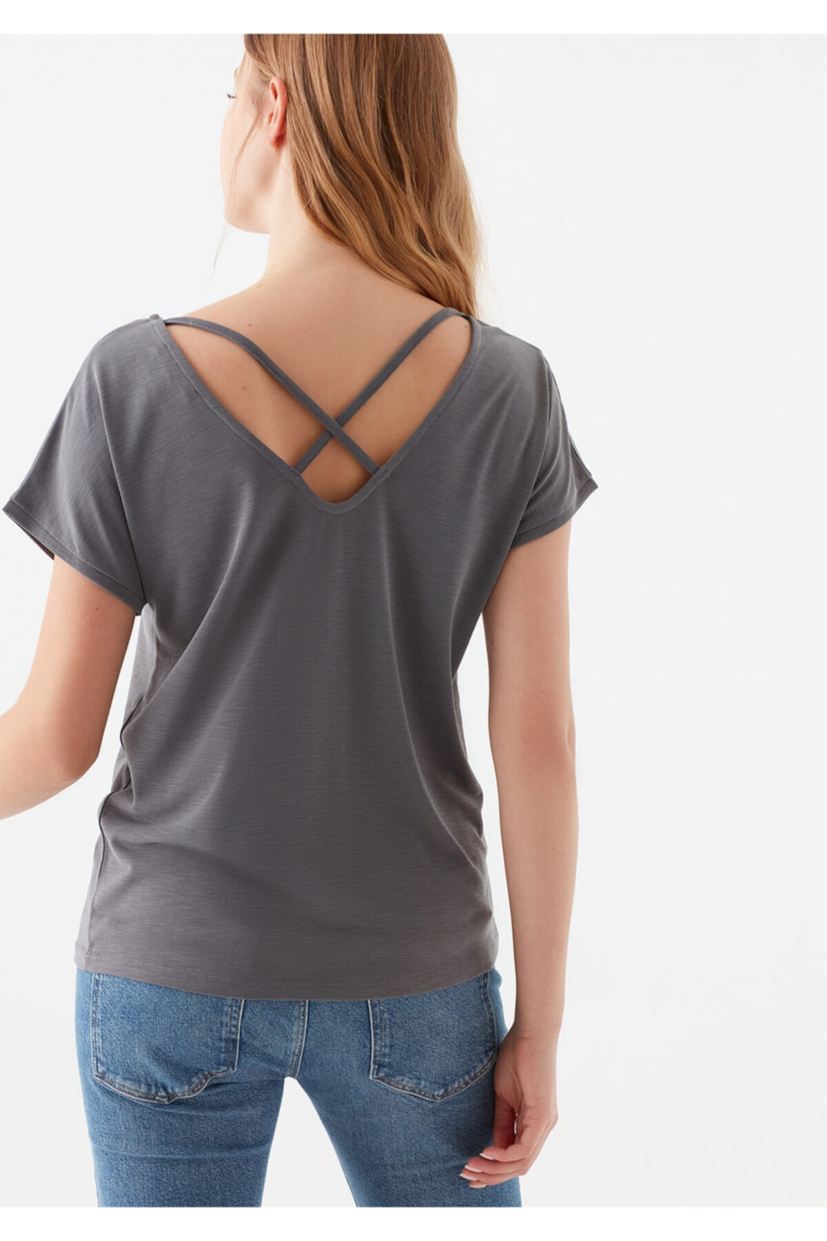 Mavi Lux Touch Gri Modal Tişört 2