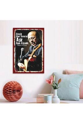 FERMAN HEDİYELİK Neşet Ertaş Ahşap Retro Poster 17,5x27,5 Cm