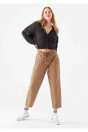 Mavi Bağcıklı Kahverengi Pantolon
