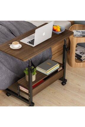 DEHALİMİTED Yükseklik Ayarlı Raflı Portatif Taşınabilir Laptop Sehpası Ve Çalışma Masası