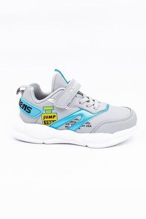 Jump Grı Mavı Unisex Spor Ayakkabı