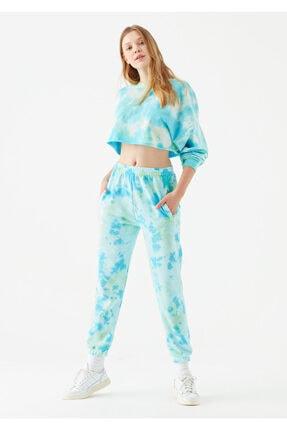 Mavi Kadın Batik Desenli Yeşil Eşofman Altı 1600824-34626