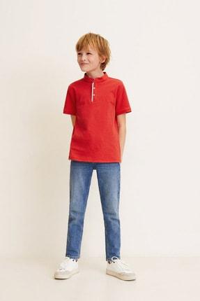 MANGO Kids Erkek Çocuk Çin Mavisi  Polo Yaka T-shirt 43080686
