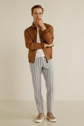 MANGO Man Erkek Kırık Beyaz Pantolon 43097712