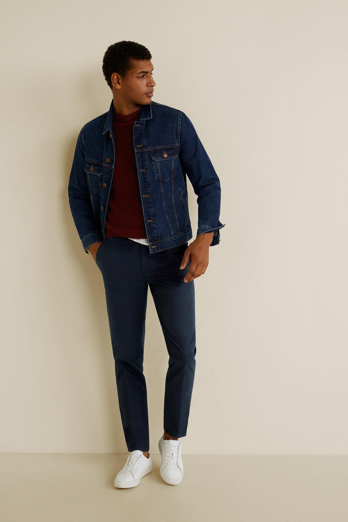 MANGO Man Erkek Siyah Pantolon 43080573 1