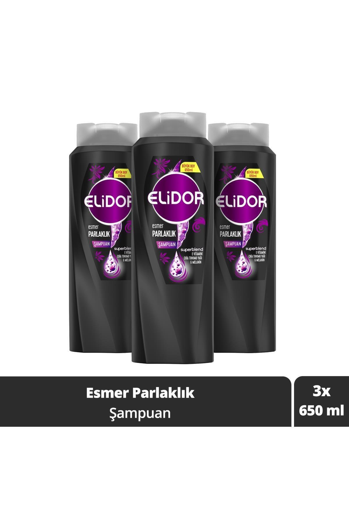 Elidor Esmer Parlaklık Saç Bakım Şampuanı 650 ml X3 1