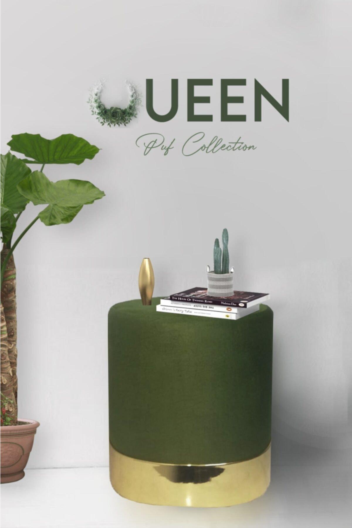 Zem Queen Green - Gold Puf 1