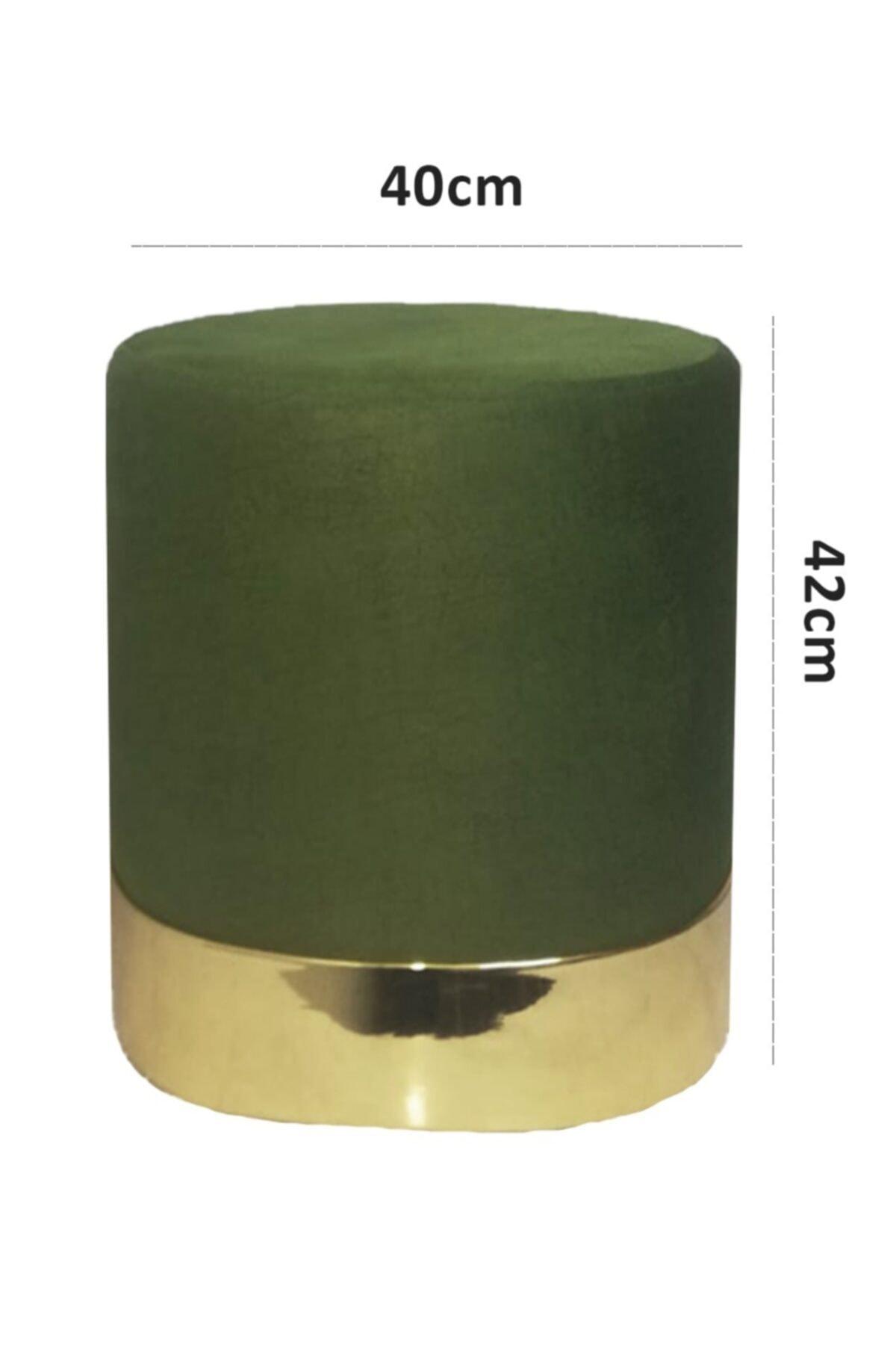 Zem Queen Green - Gold Puf 2