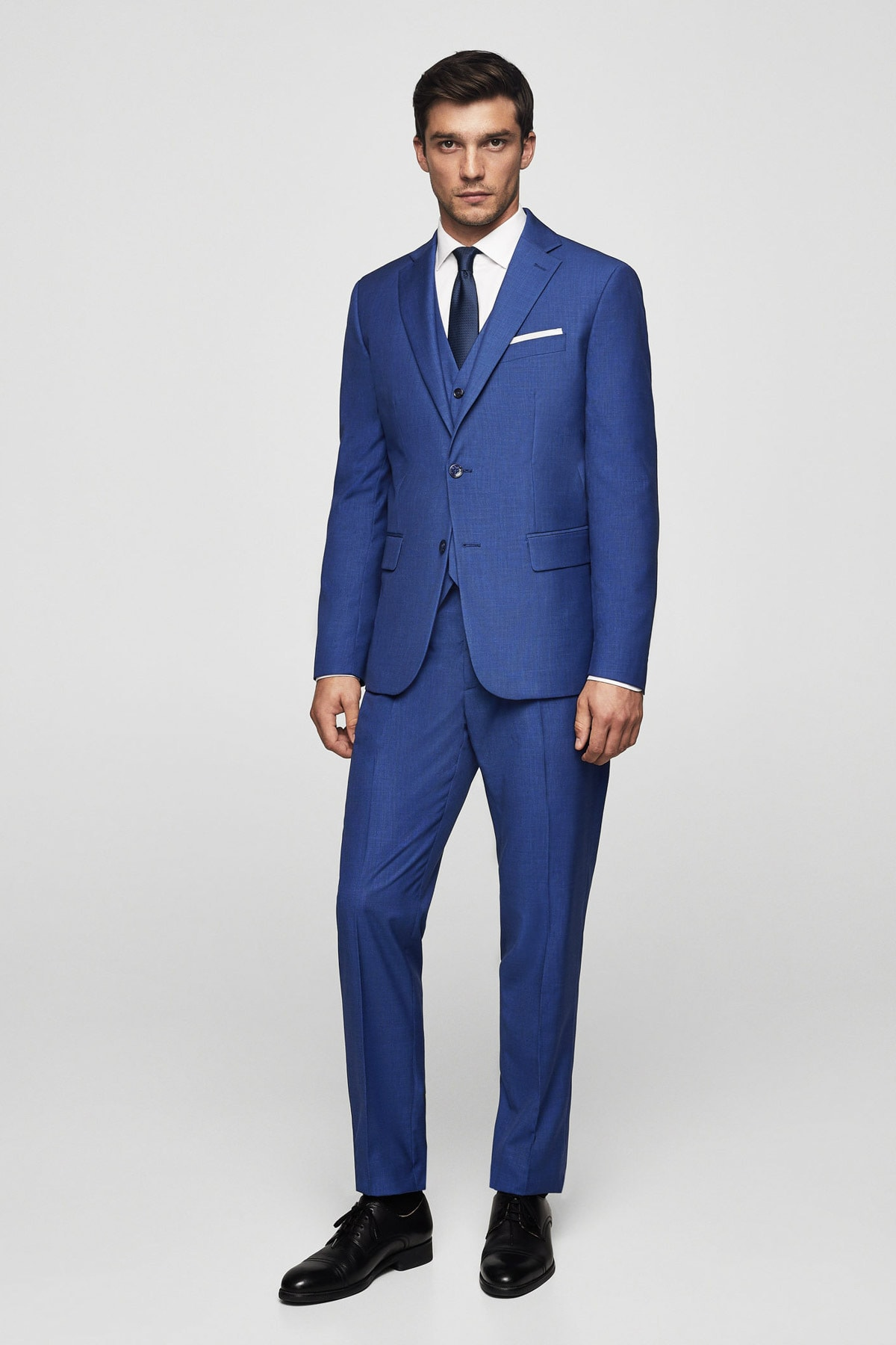MANGO Man Erkek Prusya Mavisi Pantolon 23030906 1