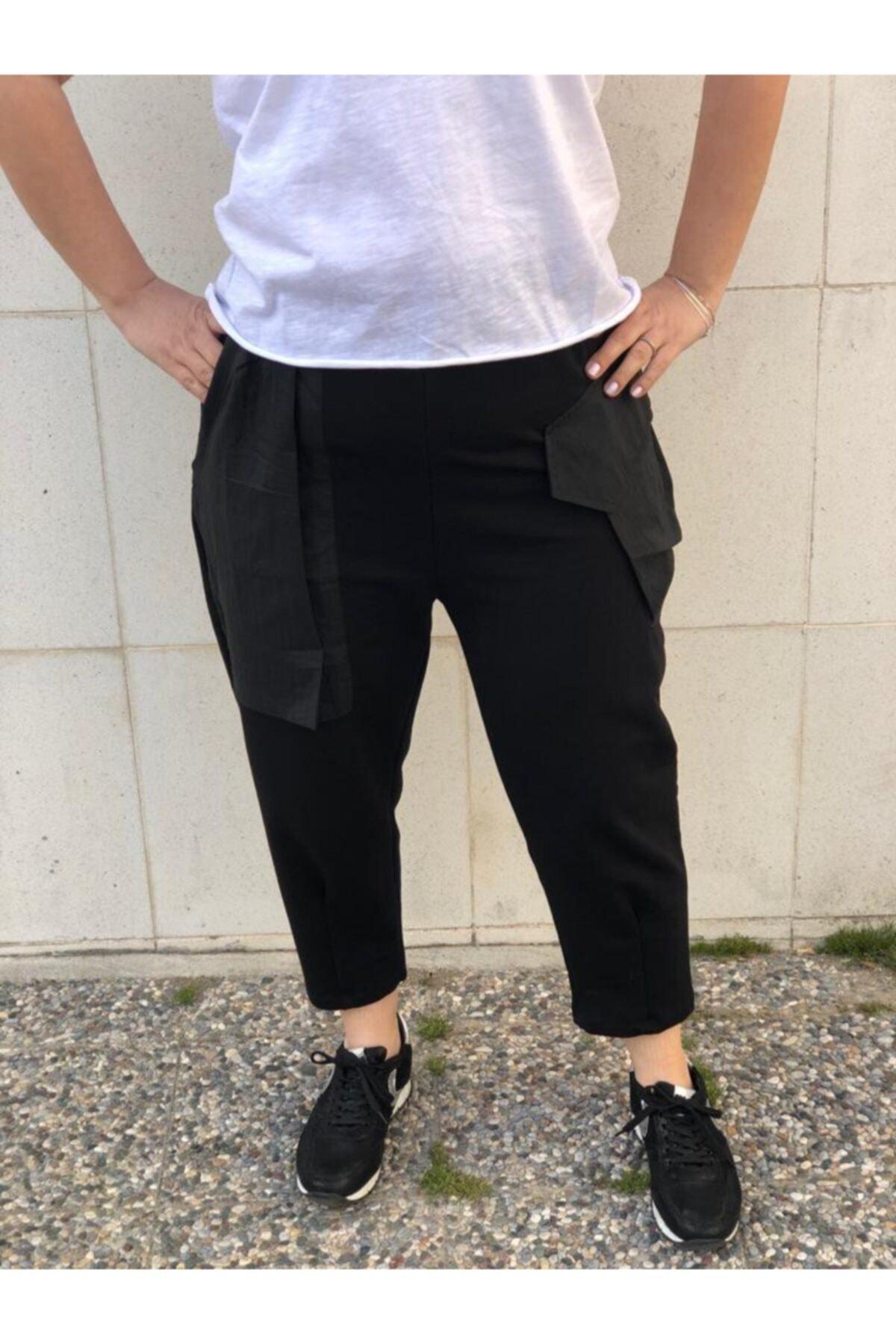 BAKTAGÖR Kadın Siyah Eşofman Pantolon 1