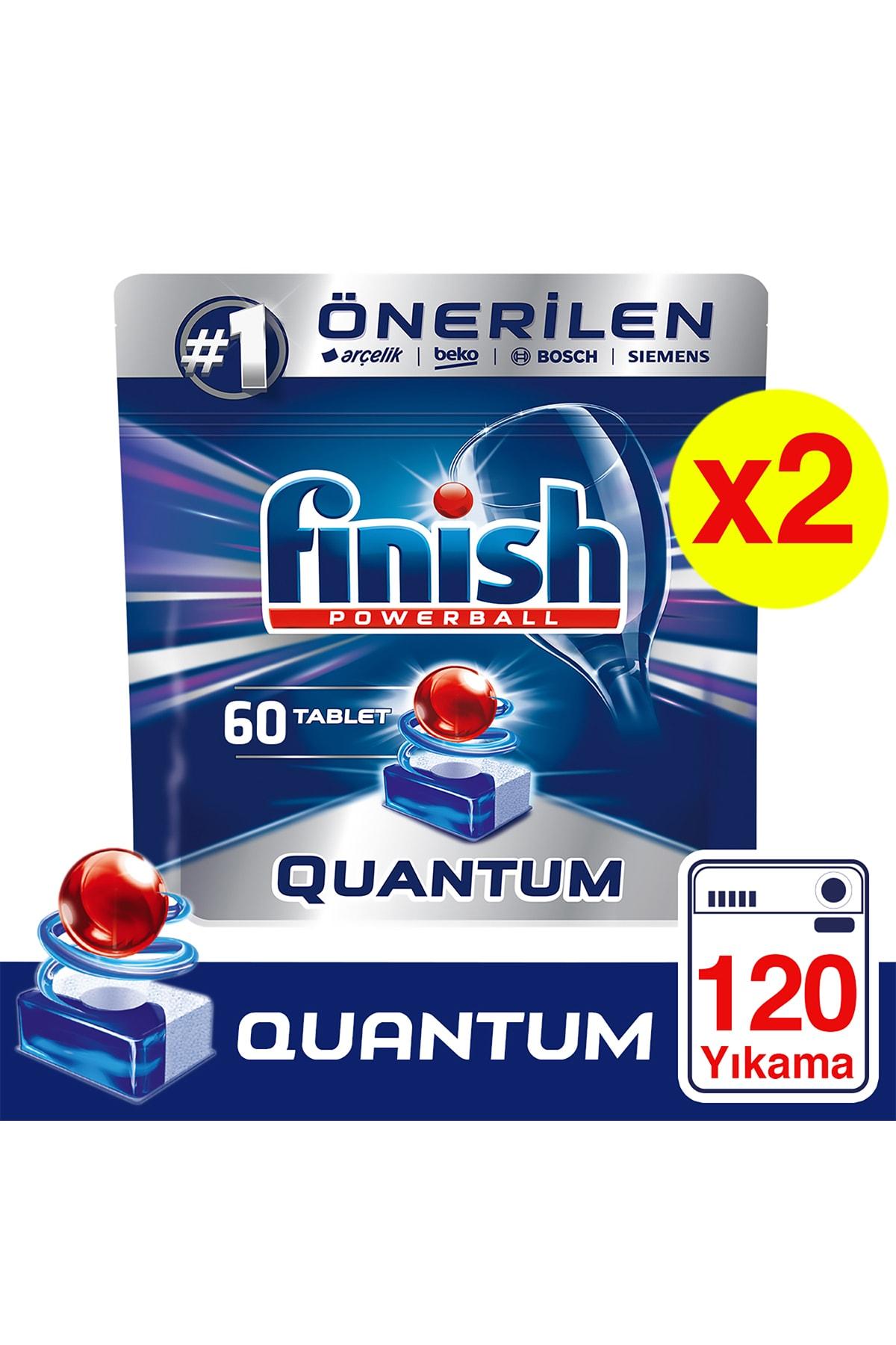 Finish Quantum 120 Tablet Bulaşık Makinesi Deterjanı (60x2) 1