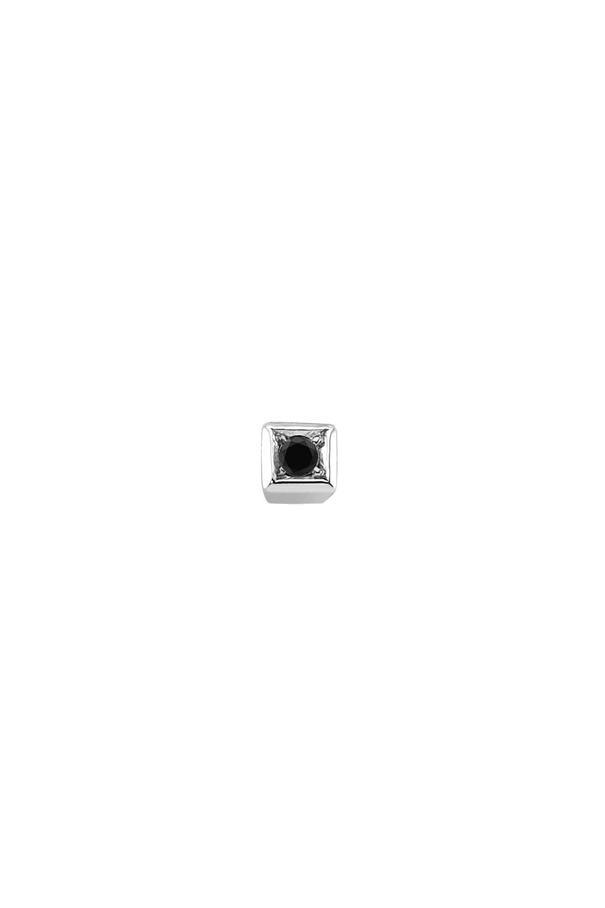 Sirius Pırlanta 0,02 Karat Siyah Pırlanta Tektaş Erkek Küpesi 1
