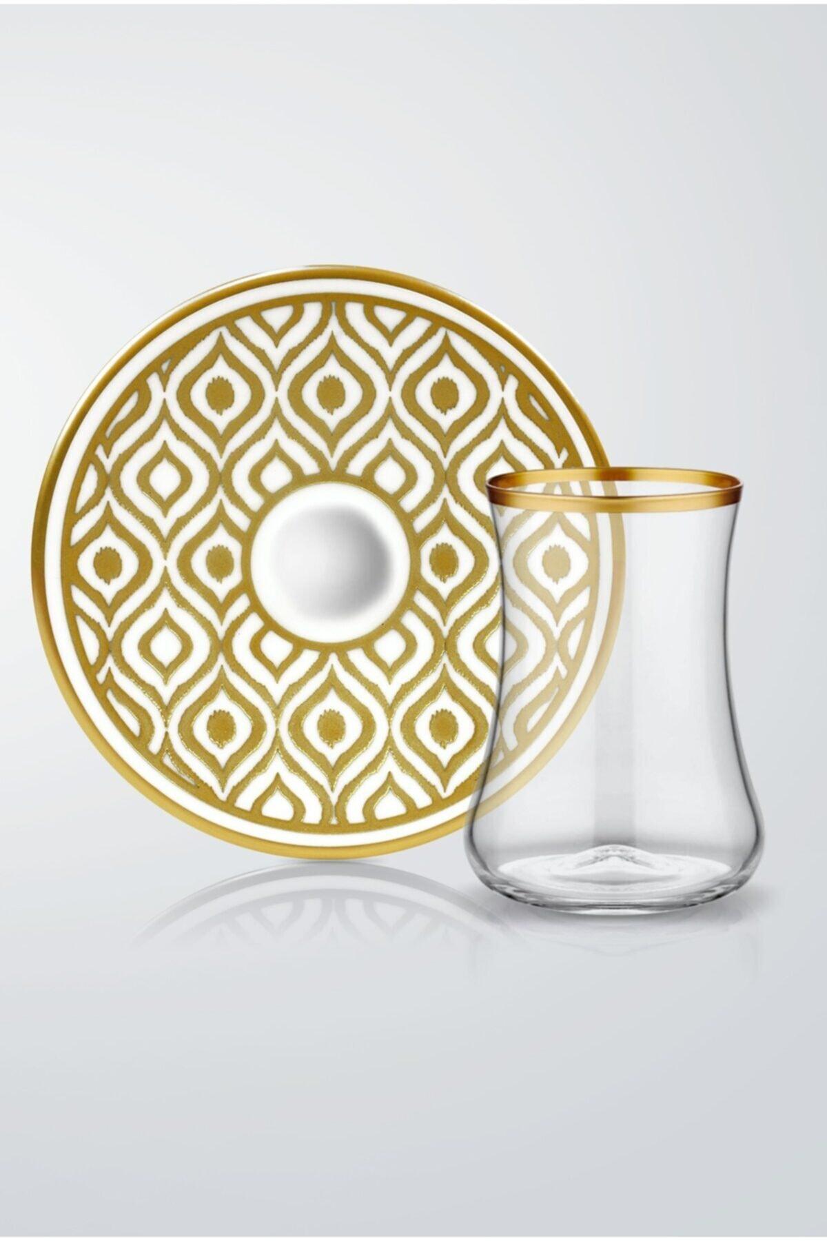 Koleksiyon1 Dervish Ikat Gold 6'lı Çay Seti  31000040258 1