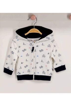 U.S. Polo Assn. Erkek Bebek Krem Kapüşonlu Hırka Usb153