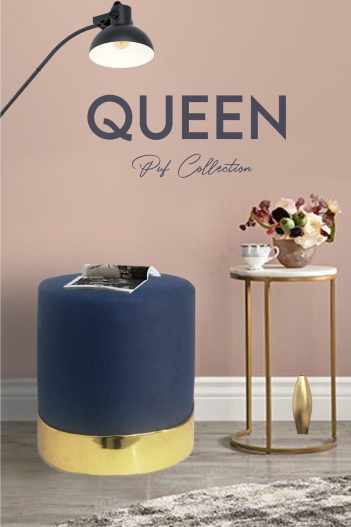 Zem Queen Blue - Gold Puf 1