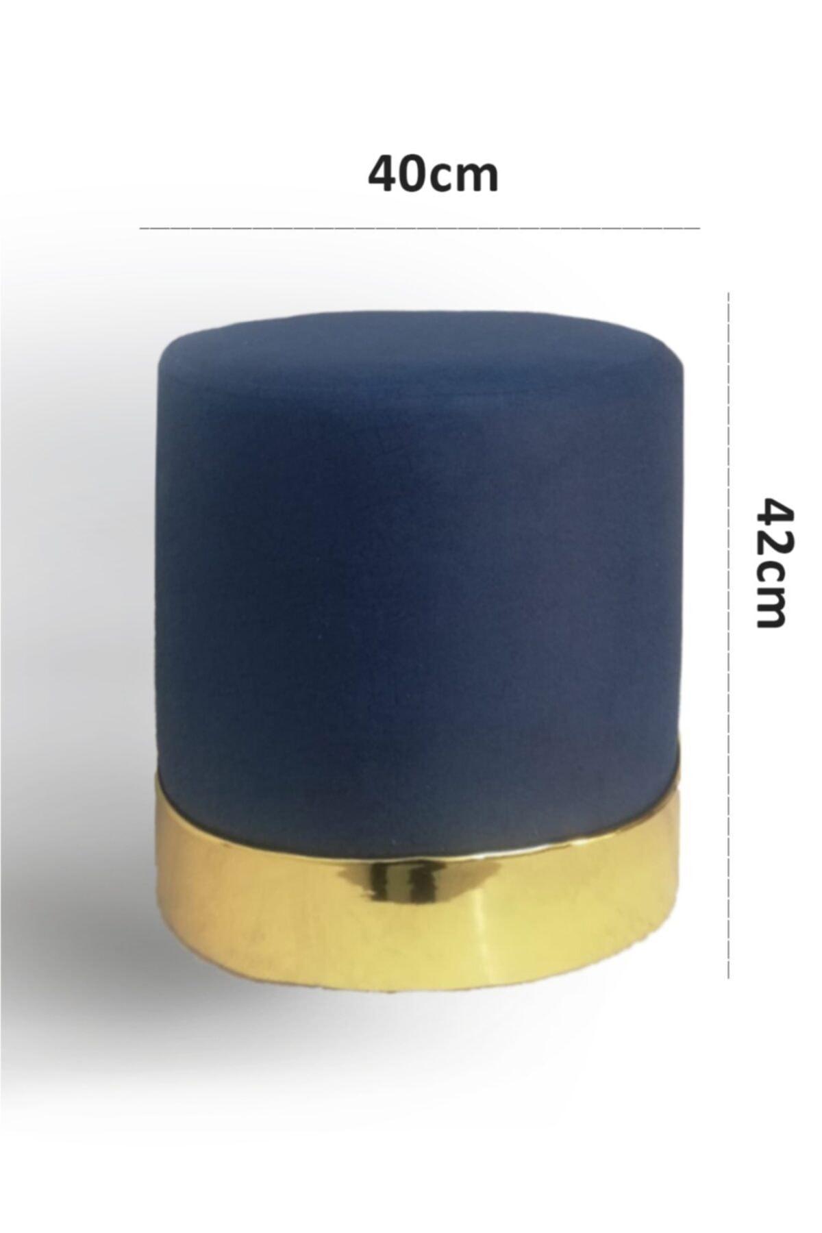 Zem Queen Blue - Gold Puf 2