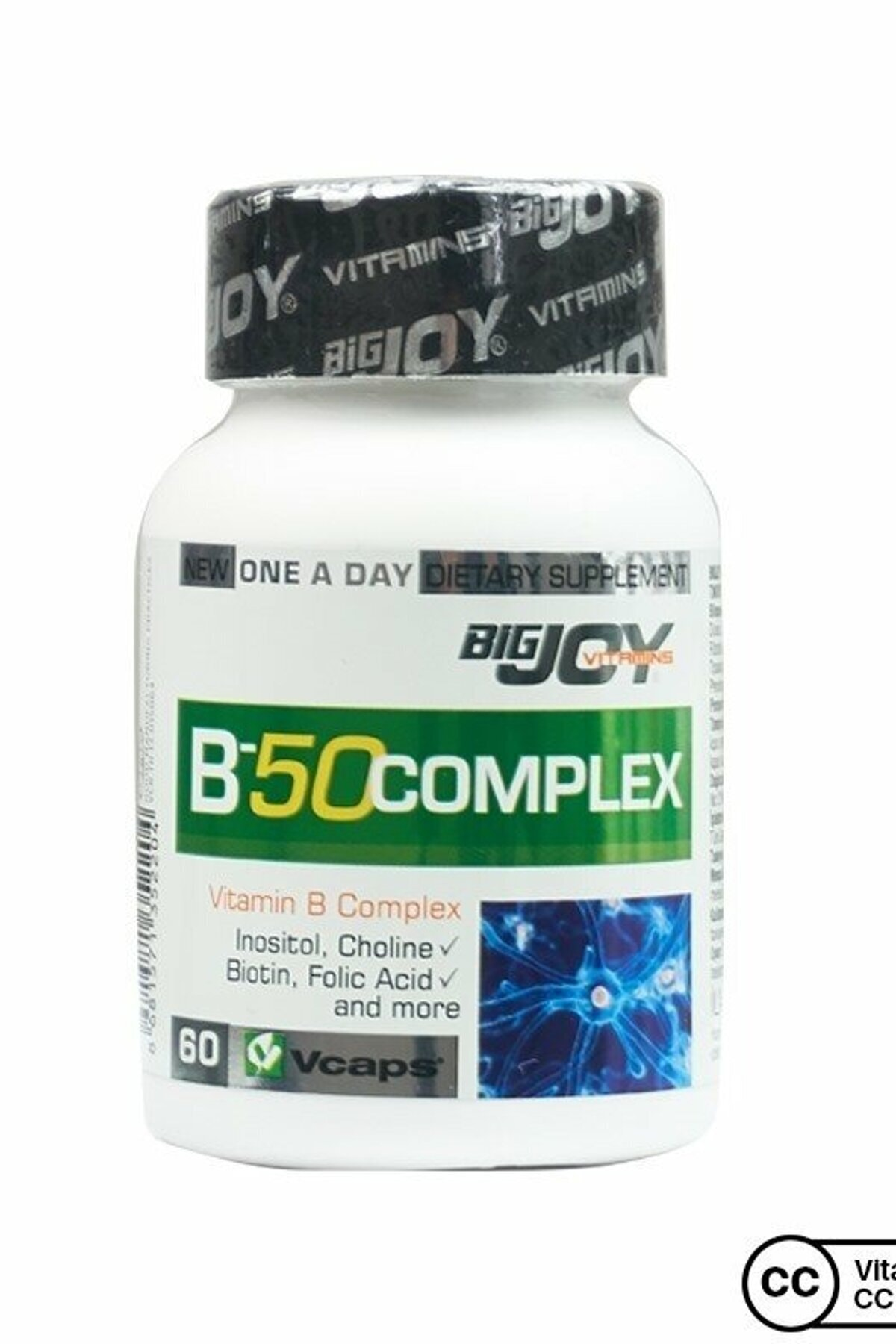 Big Joy Vitamins B-50 Complex 60 Bitkisel Kapsül 1