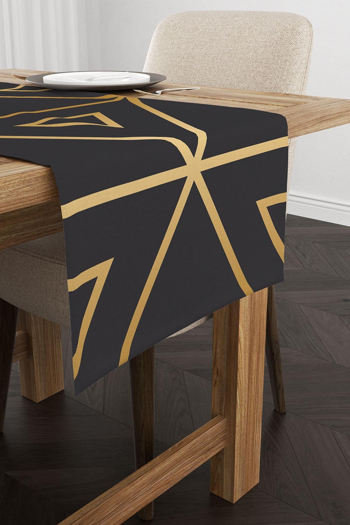 Ysahome Geometrik Desenli Dekoratif Modern Runner 1