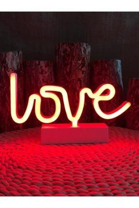 MANKAN Neon Love Yazılı Neon Işıklı Pilli Gece Lambası