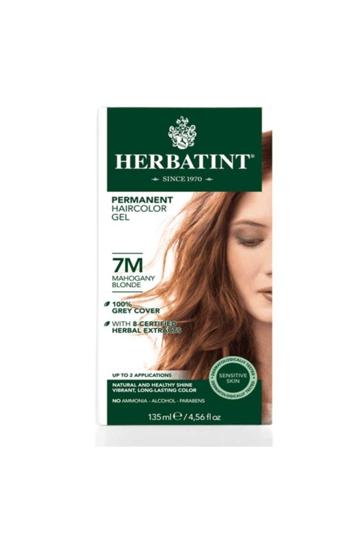 Herbatint Kalıcı Bitkisel Saç Bakım Boyası - 7m Mahogany Blonde Akaju Sarı 150 ml 8016744500180 1