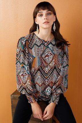 Ekol Kadın Kahverengi Bluz