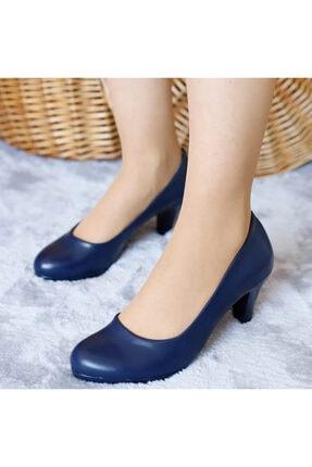 PUNTO Kadın Lacivert Mevsimlik Topuklu Ayakkabı