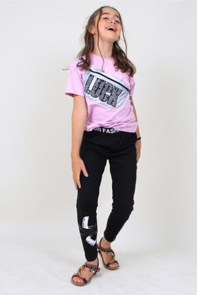 Enisena Mor Kız Çocuk Göğüs Çantalı Tshirt