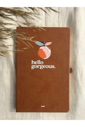 Silgisiz Kahverengi Çizgili Not Defteri Tarihsiz Ajanda Lastikli Defter 13x21 Cm Notebook