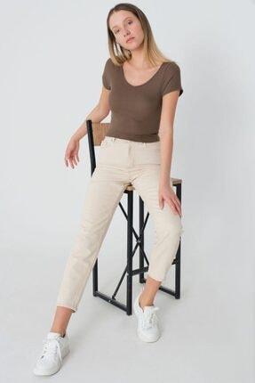 IŞILDA Kadın Taş Renk Boyfrıend Pantolon