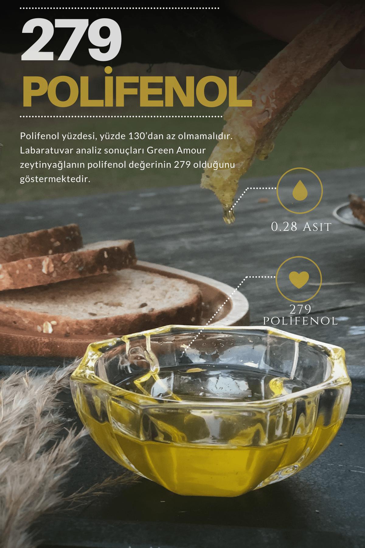Green Amour Yeni Hasat %100 Natürel Sızma Zeytinyağı Soğuk Sıkım Düşük Asit - Yüksek Polifenol 5 lt 2