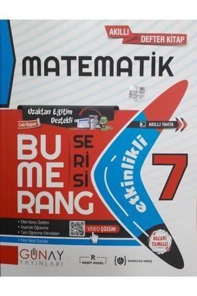 Günay Yayıncılık 7. Sınıf Matematik Bumerang Serisi Etkinlikli Akıllı Defter Kitap Günay Yayınları