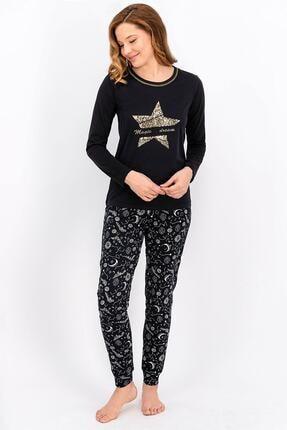 Arnetta Siyah Magic Dream Kadın Pijama Takımı